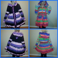 Recycle Upcycle Cardigan Hooded Tunic Coat Vest