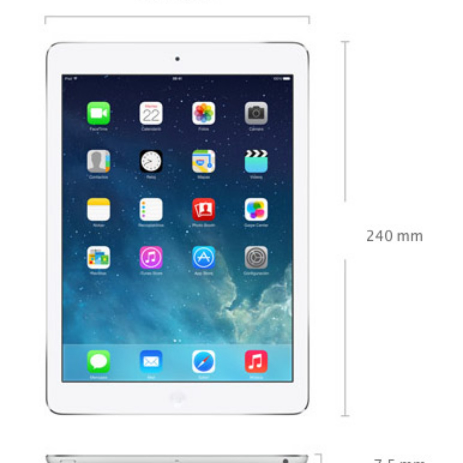 Apple iPad AIR 2 WIFI  mas 4G de 64 GB