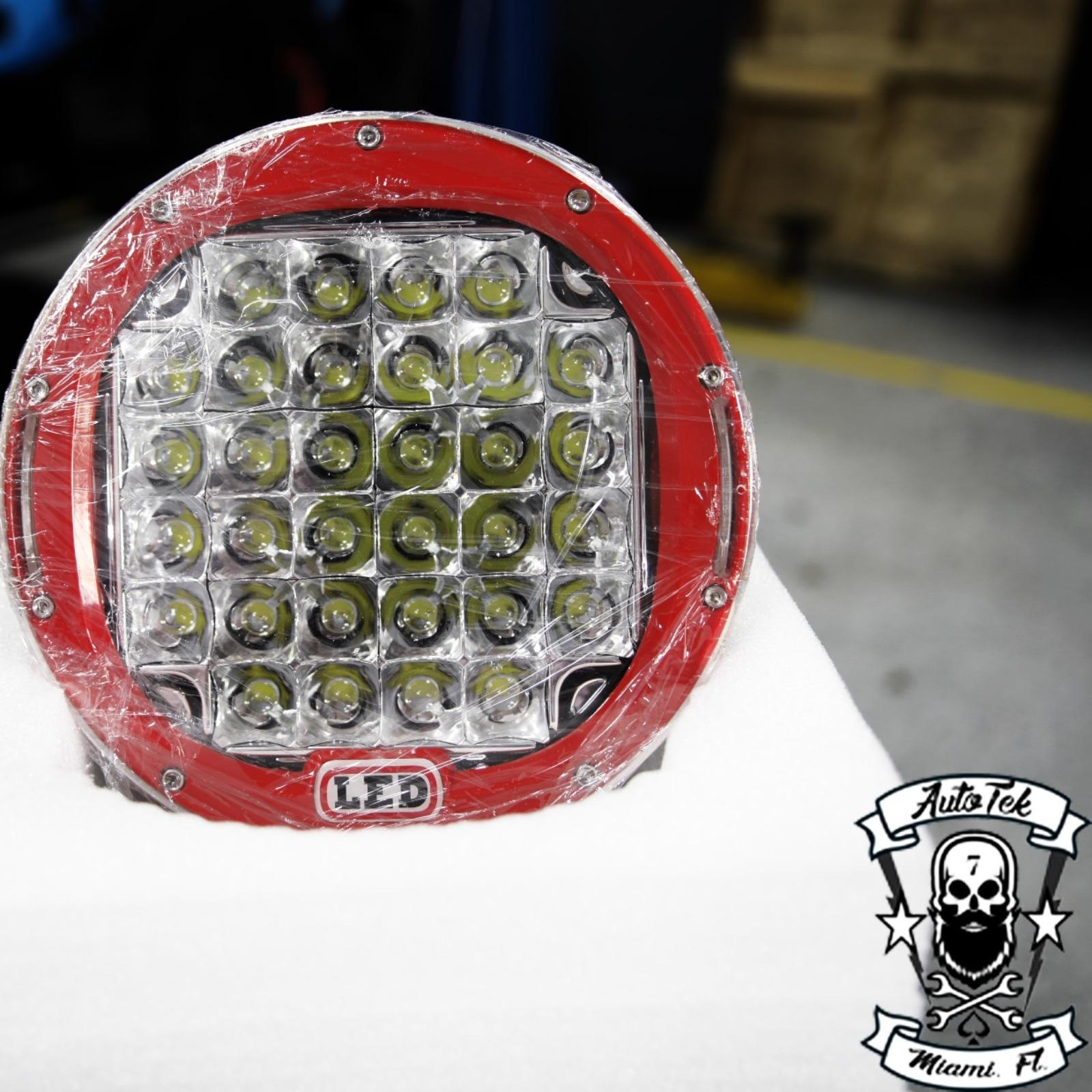 9 inch  160W 12 24V Round Spot Auxiliary LED Off Road Backup Driving.
